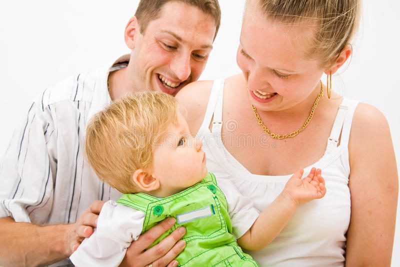 μητέρα πατέρων μωρών στοκ φωτογραφίες