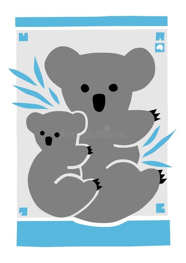 μητέρα koala joey διανυσματική απεικόνιση