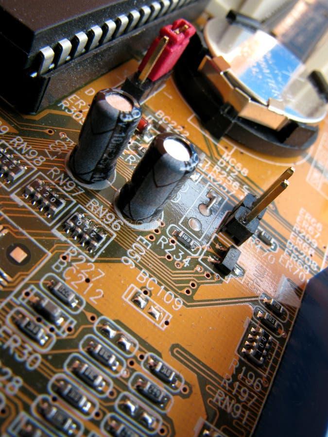 μητρική κάρτα υπολογιστών στοκ φωτογραφία