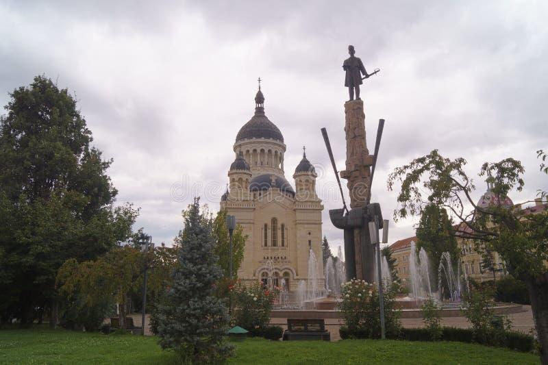 Μητροπολιτικός Καθεδρικός Ναός Η Υπόθεση της Virgin Catdrala Mitropolitană Adormirea Maicii Domnului - Cluj Napoca, Transylvani στοκ εικόνες