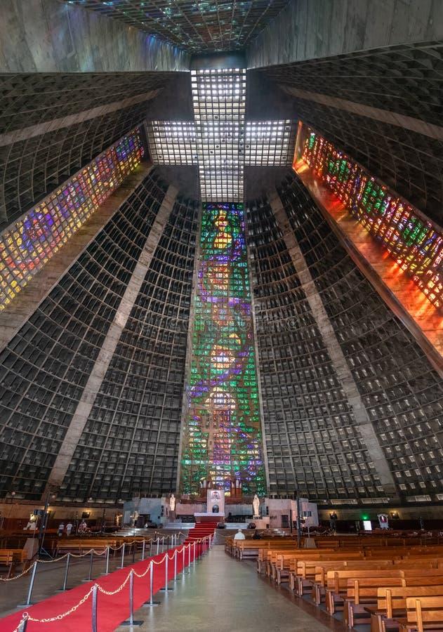 Μητροπολιτικός καθεδρικός ναός Ρίο ντε Τζανέιρο - Ρίο ντε Τζανέιρο, Βραζιλία στοκ φωτογραφία με δικαίωμα ελεύθερης χρήσης