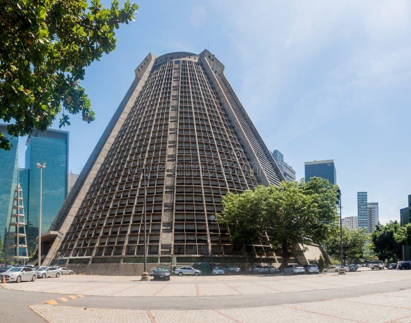 Μητροπολιτικός καθεδρικός ναός στο Ρίο ντε Τζανέιρο στοκ εικόνα με δικαίωμα ελεύθερης χρήσης