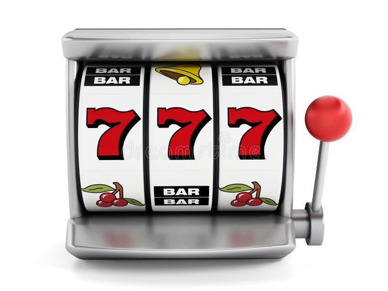 Μηχάνημα τυχερών παιχνιδιών με κέρματα διανυσματική απεικόνιση