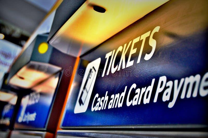 Μηχανές εισιτηρίων στοκ εικόνες με δικαίωμα ελεύθερης χρήσης