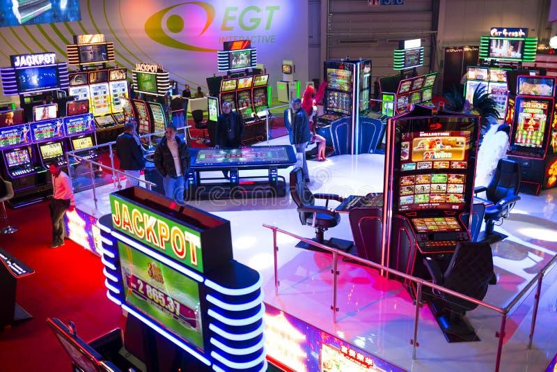 Μηχανήματα τυχερών παιχνιδιών με κέρματα τζακ ποτ δωματίων χαρτοπαικτικών λεσχών στοκ φωτογραφίες με δικαίωμα ελεύθερης χρήσης