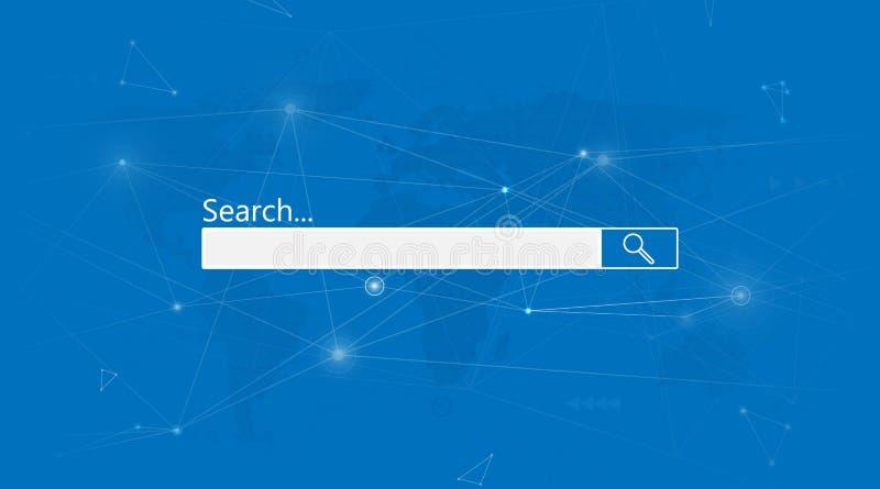 Μηχανή αναζήτησης μηχανών αναζήτησης Αφηρημένο υπόβαθρο δικτύων σύνδεσης στοιχείων Διαδικτύου διανυσματική απεικόνιση