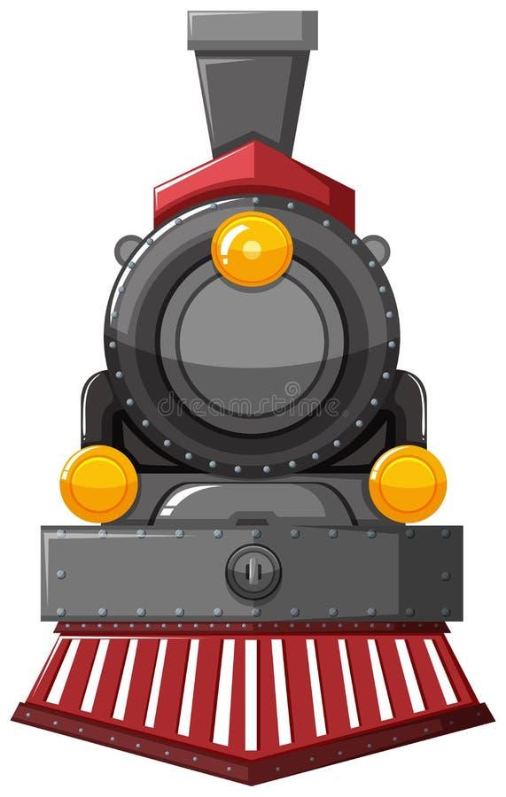 Μηχανή ατμού στο γκρίζο χρώμα απεικόνιση αποθεμάτων