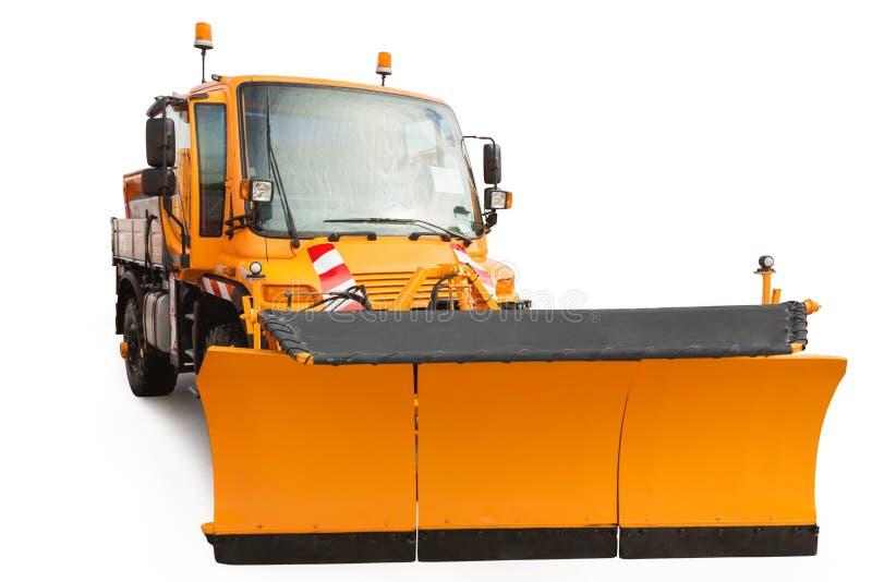Μηχανή αφαίρεσης αρότρων χιονιού που απομονώνεται με το ψαλίδισμα της πορείας στοκ φωτογραφία με δικαίωμα ελεύθερης χρήσης