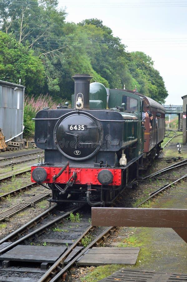 Μηχανή 6435 δεξαμενών Pannier στο σιδηρόδρομο Κορνουάλλη Bodmin και Wenford στοκ φωτογραφίες