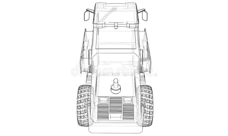 Μηχανή κατασκευής Διάνυσμα συμπιεστών ασφάλτου απεικόνιση αποθεμάτων
