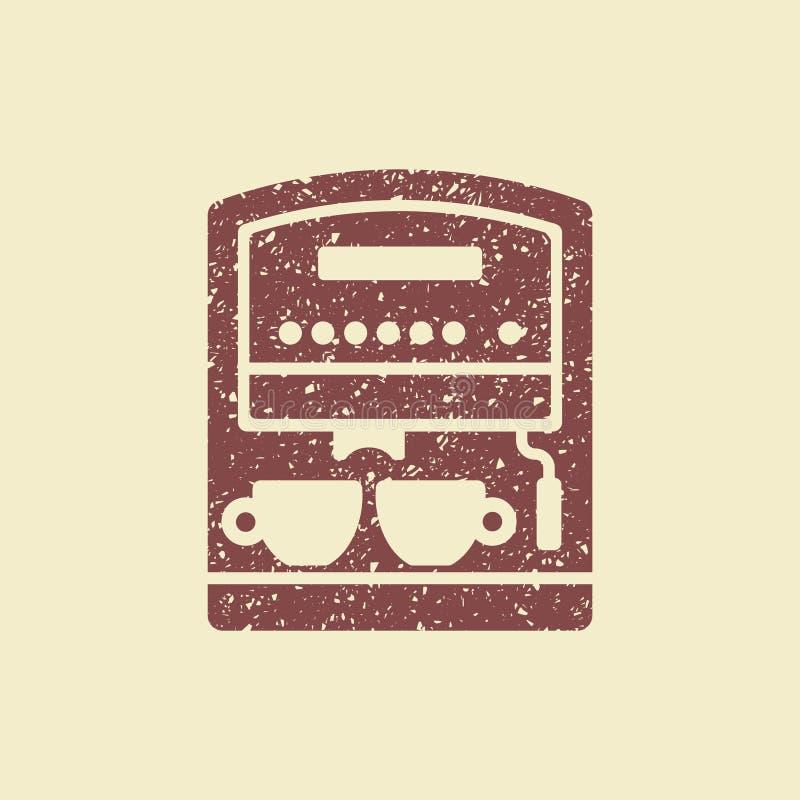 Μηχανή καφέ με τα φλυτζάνια απεικόνιση αποθεμάτων