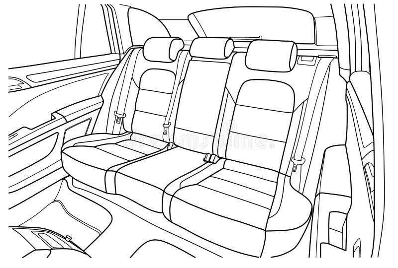Μηχανή μέσα εσωτερικό του οχήματος διανυσματική απεικόνιση