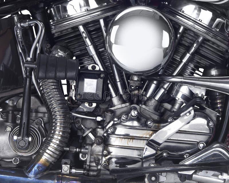 Μηχανή μιας μοτοσικλέτας στοκ φωτογραφίες