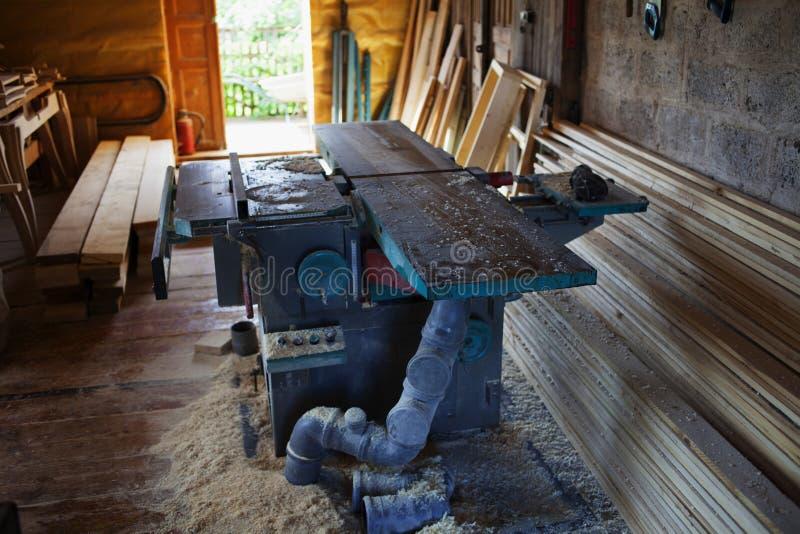 Μηχανή ξυλουργικής σε ένα ιδιωτικό εργαστήριο στοκ φωτογραφίες
