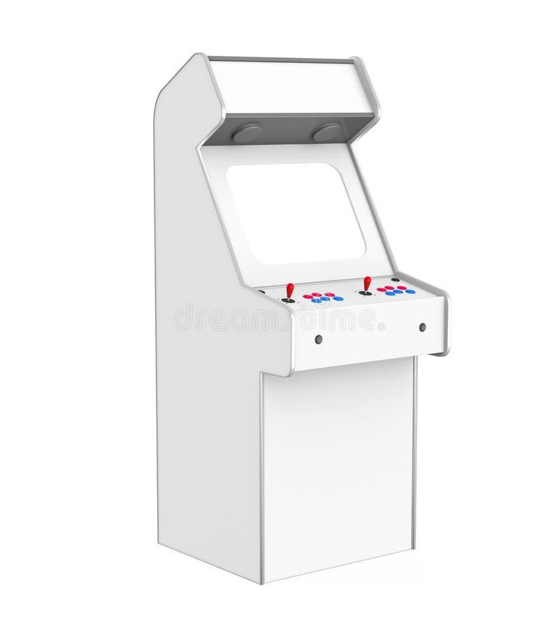 Μηχανή παιχνιδιών Arcade που απομονώνεται ελεύθερη απεικόνιση δικαιώματος