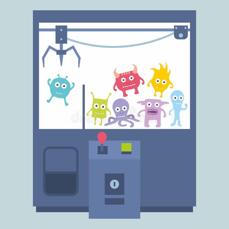 Μηχανή παιχνιδιών γερανών νυχιών ελεύθερη απεικόνιση δικαιώματος