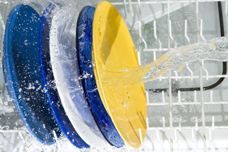 Μηχανή πλυσίματος των πιάτων στοκ εικόνες