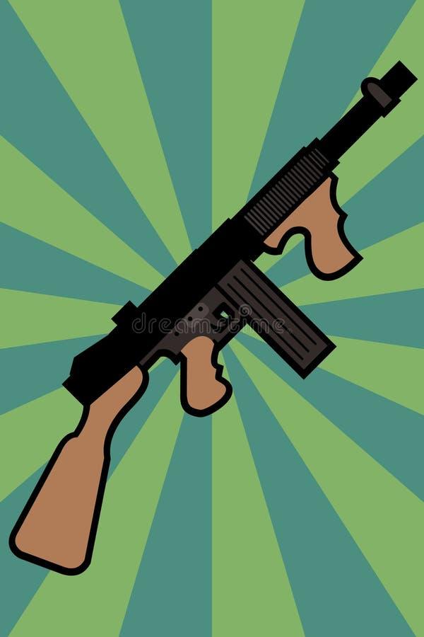μηχανή πυροβόλων όπλων διανυσματική απεικόνιση