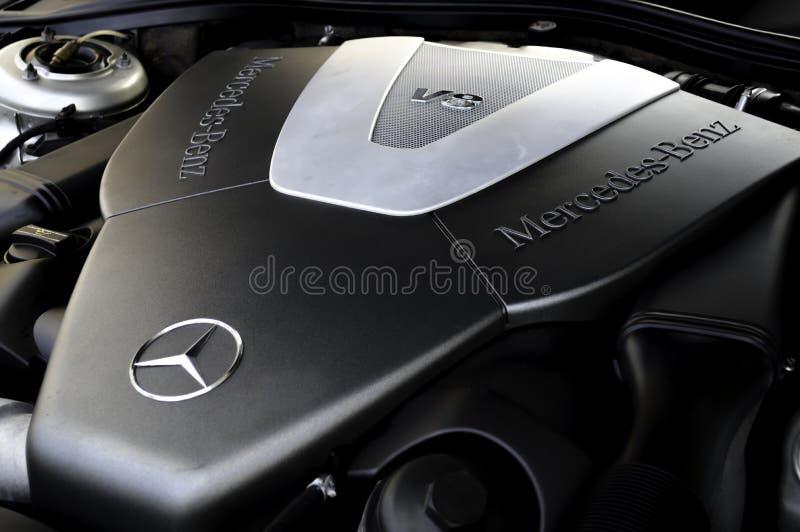 Μηχανή της Mercedes-Benz V8 στοκ εικόνα με δικαίωμα ελεύθερης χρήσης