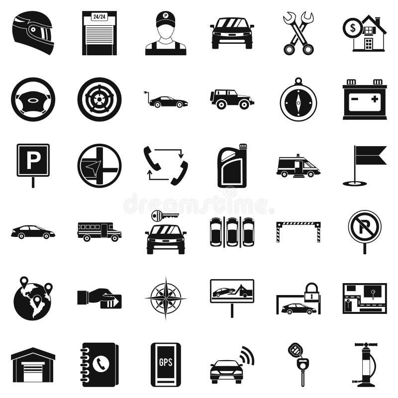 Μηχανικά αυτόματα εικονίδια καθορισμένα, απλό ύφος ελεύθερη απεικόνιση δικαιώματος