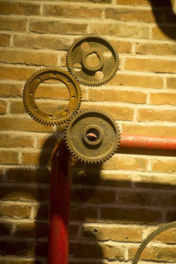 Μηχανικές ρόδες εργαλείων βαραίνω Steampunk στοκ φωτογραφία