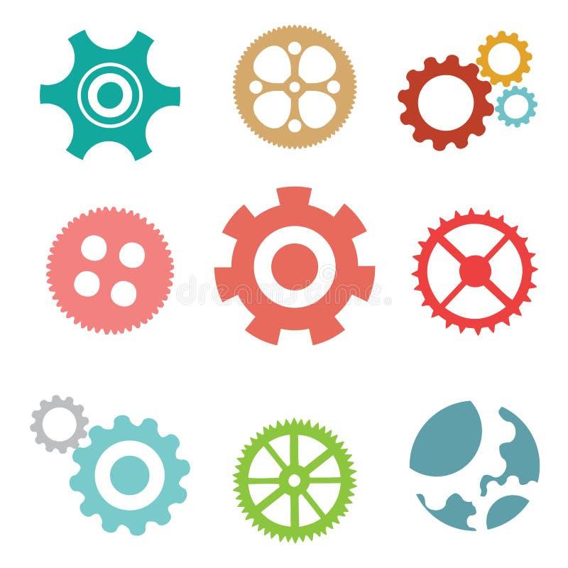 Μηχανικές ρόδες εργαλείων διανυσματική απεικόνιση