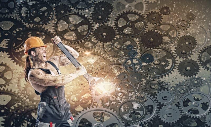Μηχανικός ατόμων ελεύθερη απεικόνιση δικαιώματος