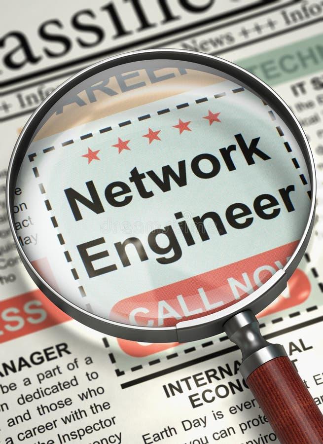 Μηχανικός δικτύων επιθυμητός τρισδιάστατος ελεύθερη απεικόνιση δικαιώματος