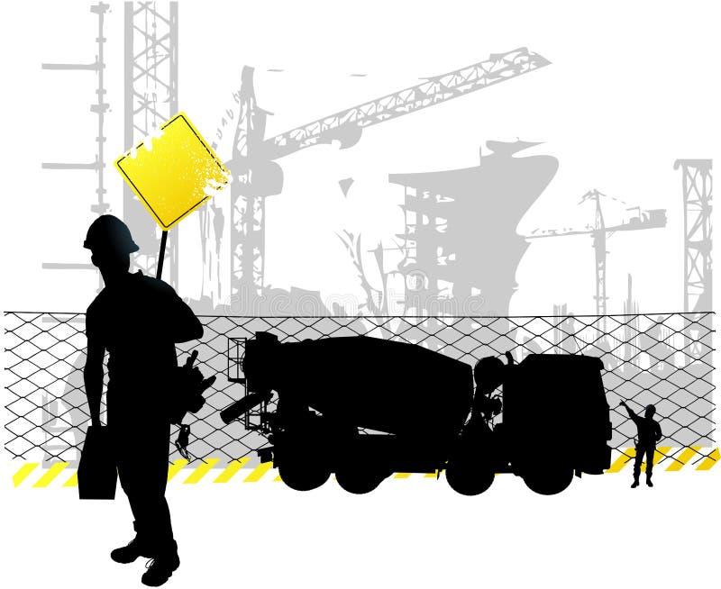 Μηχανικός και επιστάτης που εξετάζουν τη βαριά μηχανή απεικόνιση αποθεμάτων