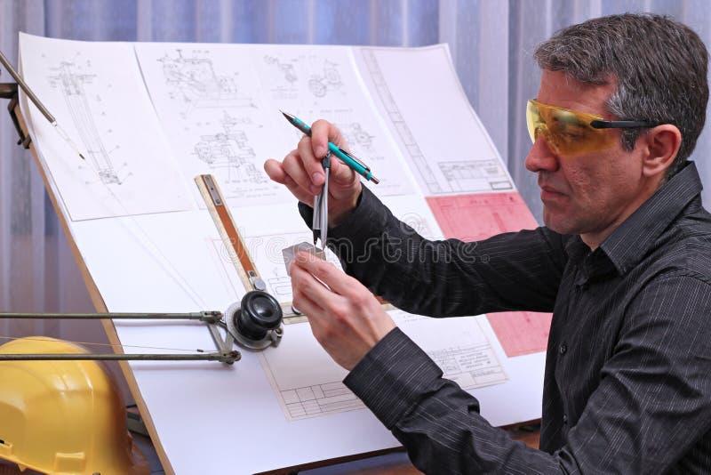 Μηχανικός μηχανικός σχεδίου στοκ φωτογραφία