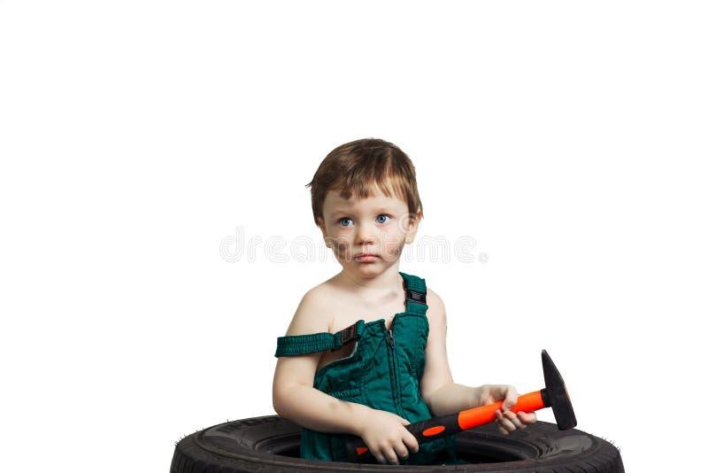 Μηχανικός μικρών παιδιών στοκ φωτογραφίες με δικαίωμα ελεύθερης χρήσης