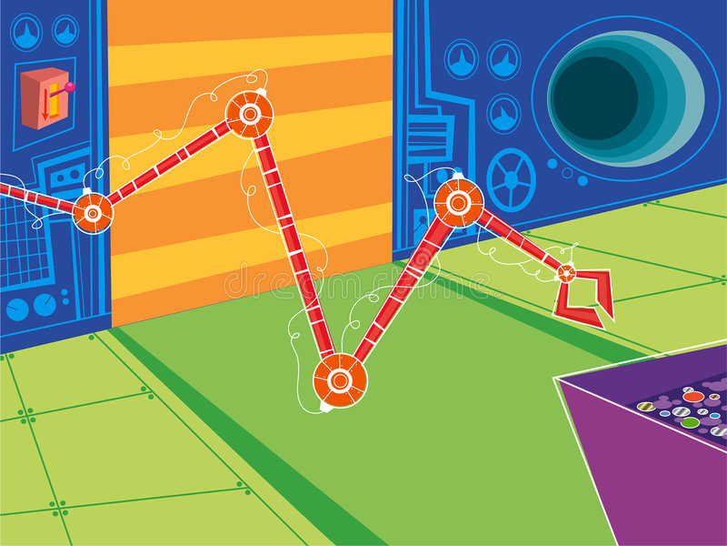 μηχανικό δωμάτιο κινούμεν&omega διανυσματική απεικόνιση