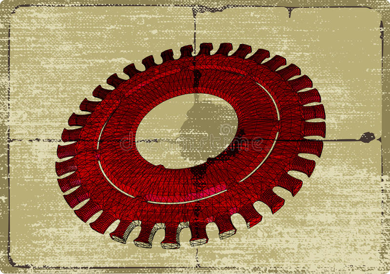 μηχανικό παλαιό έγγραφο αν&t διανυσματική απεικόνιση