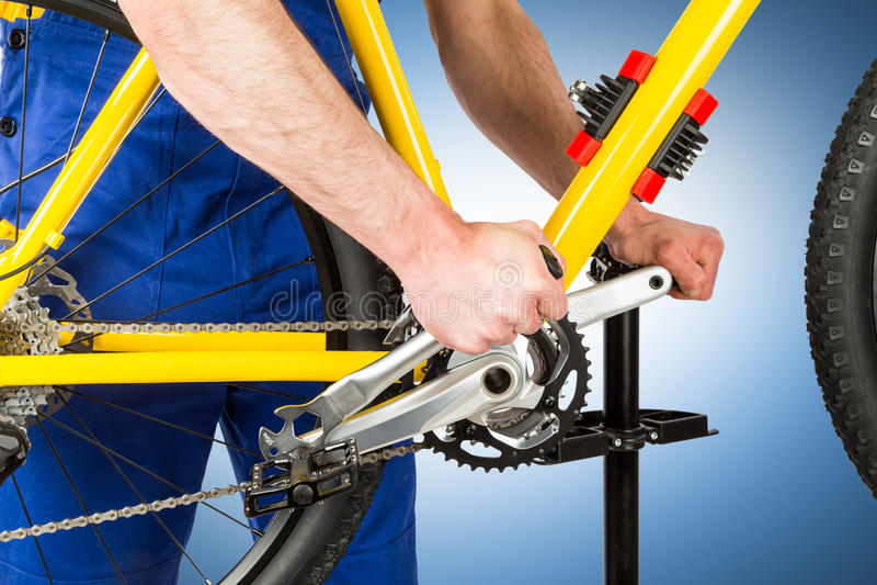 Μηχανικό πεντάλι σκλήρυνσης ποδηλάτων στοκ φωτογραφία με δικαίωμα ελεύθερης χρήσης