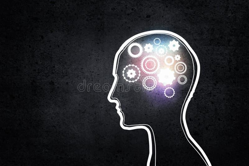 Μηχανισμοί σκέψης στοκ εικόνα