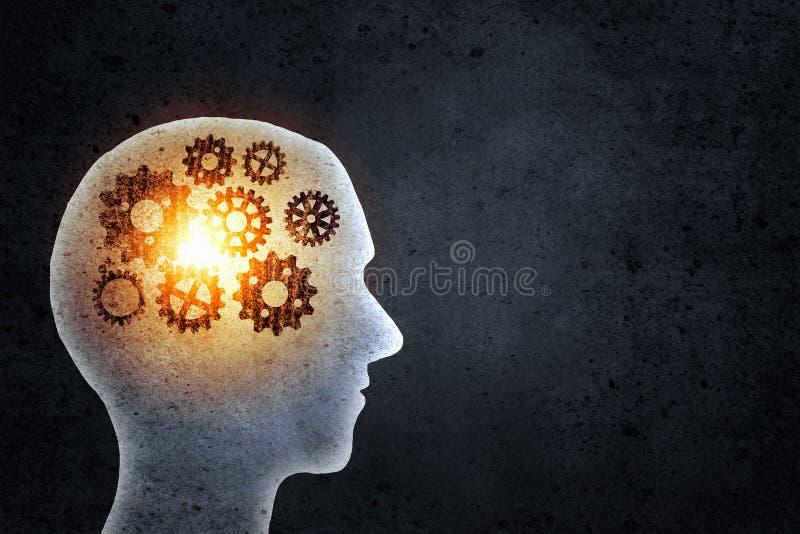 Μηχανισμοί σκέψης στοκ εικόνες
