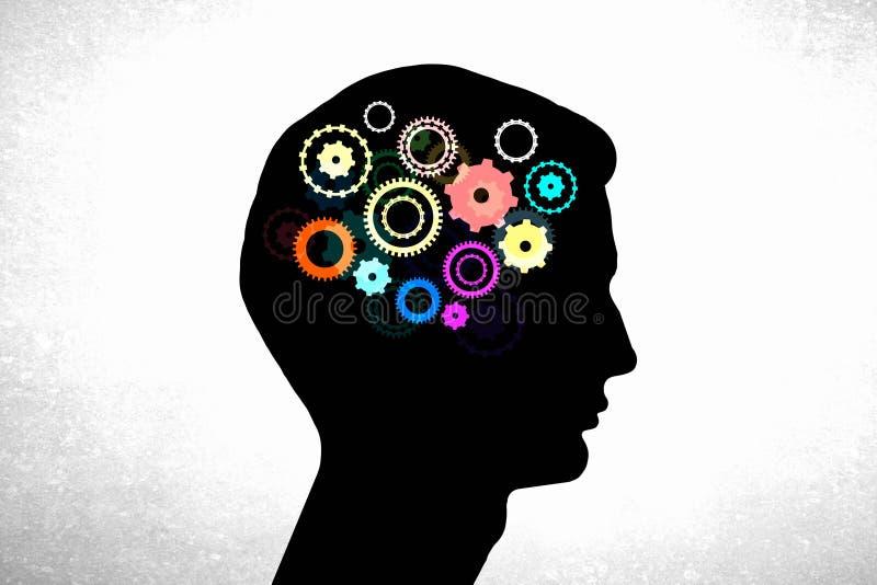 Μηχανισμοί σκέψης στοκ εικόνα με δικαίωμα ελεύθερης χρήσης