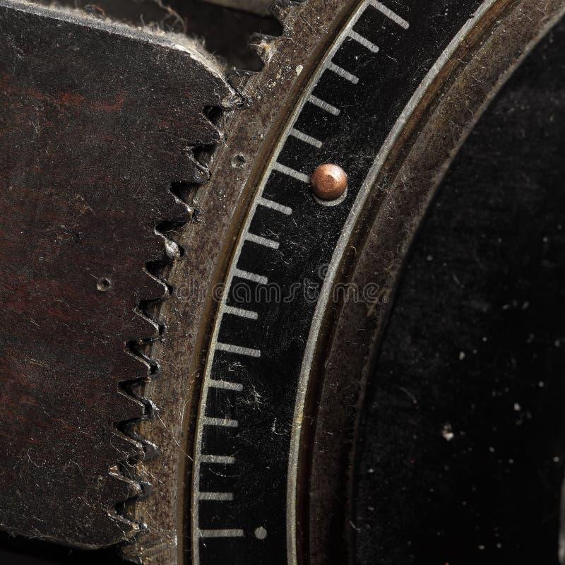 Μηχανισμός κλειδώματος για gearwheel, μακροεντολή στοκ εικόνες