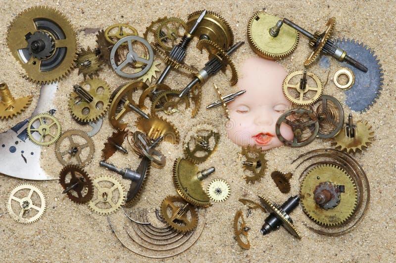 Μηχανισμός μηχανισμού στην άμμο στοκ εικόνες με δικαίωμα ελεύθερης χρήσης
