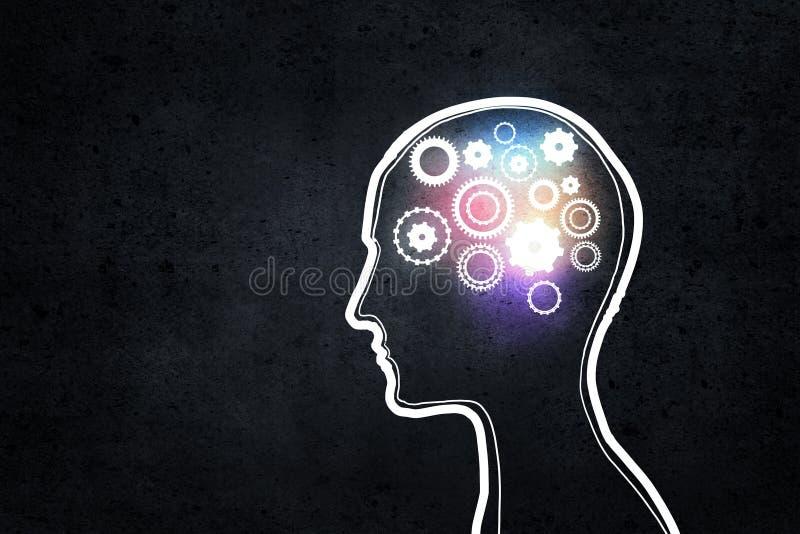 Μηχανισμός σκέψης στοκ εικόνα με δικαίωμα ελεύθερης χρήσης