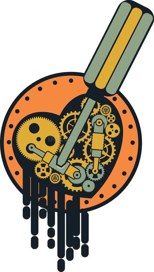 Μηχανισμός Steampunk ελεύθερη απεικόνιση δικαιώματος