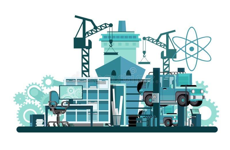 Μηχανολόγος μηχανικός απεικόνιση αποθεμάτων