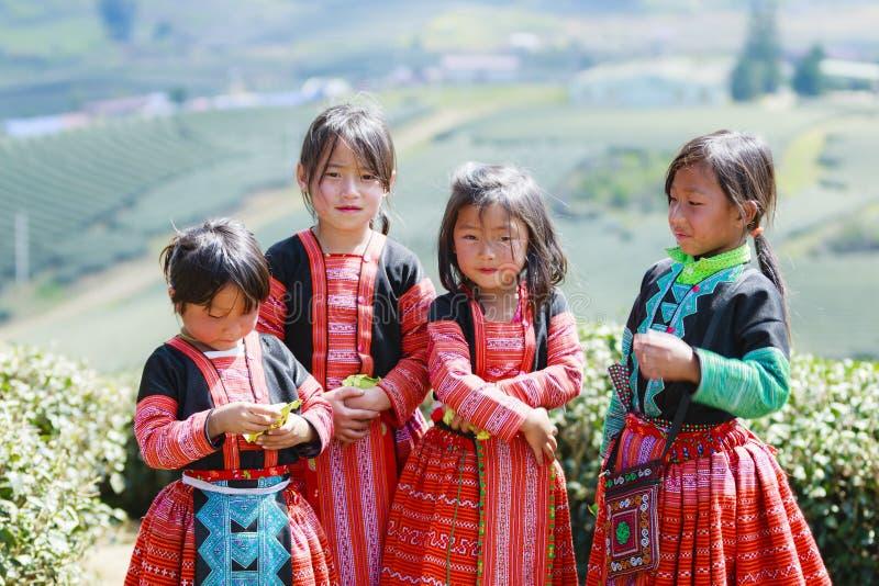 Μη αναγνωρισμένα παιδιά εθνικής μειονότητας HMong στοκ εικόνες με δικαίωμα ελεύθερης χρήσης