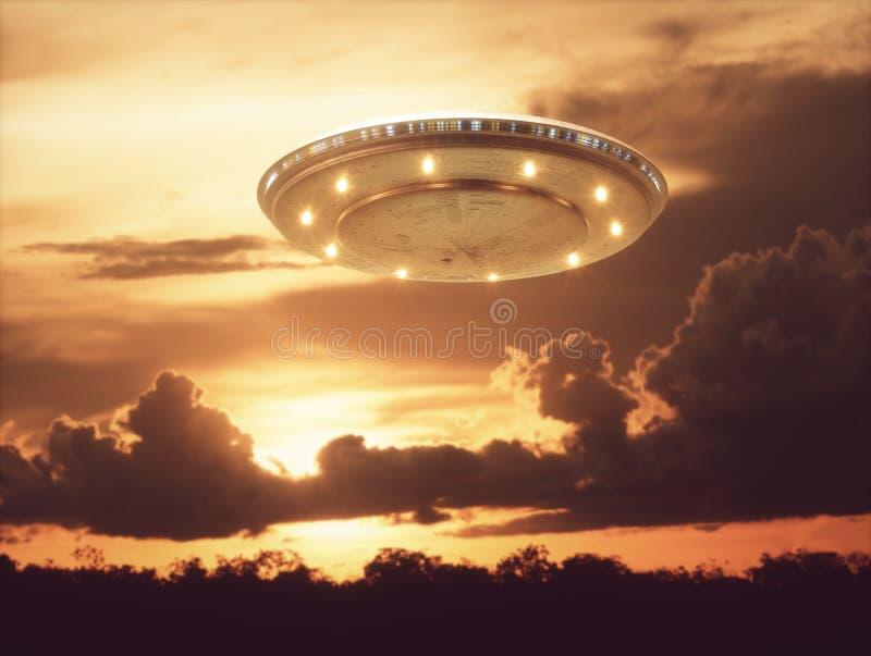 Μη αναγνωρισμένα πετώντας αντικείμενα UFO στοκ φωτογραφία με δικαίωμα ελεύθερης χρήσης
