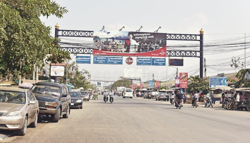 Μη αναγνωρισμένοι άνθρωποι στα ταϊλανδικός-καμποτζιανά σύνορα στοκ φωτογραφίες με δικαίωμα ελεύθερης χρήσης