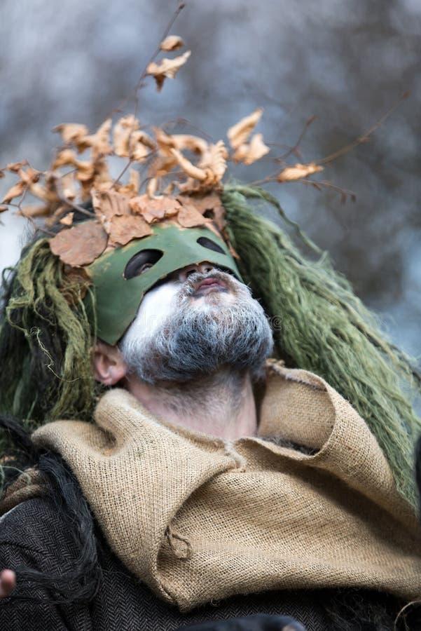 Μη αναγνωρισμένοι συμμετέχοντες Rekawka - η πολωνική παράδοση, γιόρτασε στην Κρακοβία ο στοκ φωτογραφία με δικαίωμα ελεύθερης χρήσης