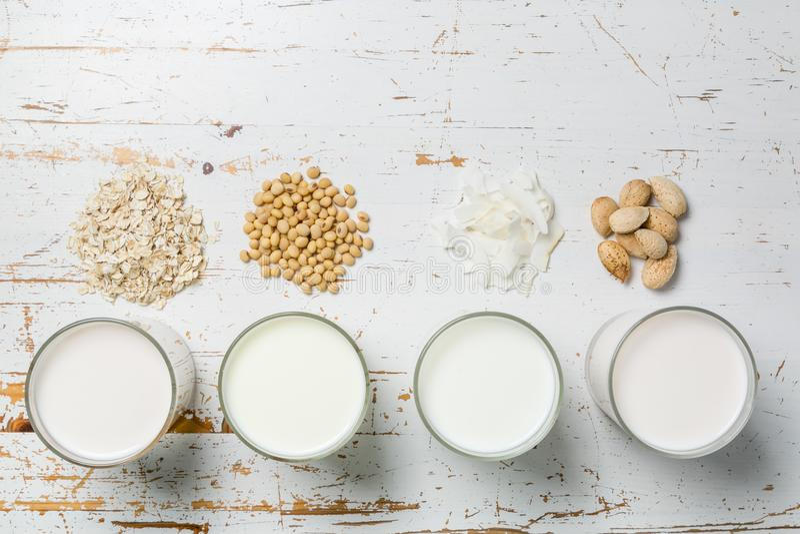 Μη γαλακτοκομική έννοια γάλακτος στοκ φωτογραφίες με δικαίωμα ελεύθερης χρήσης