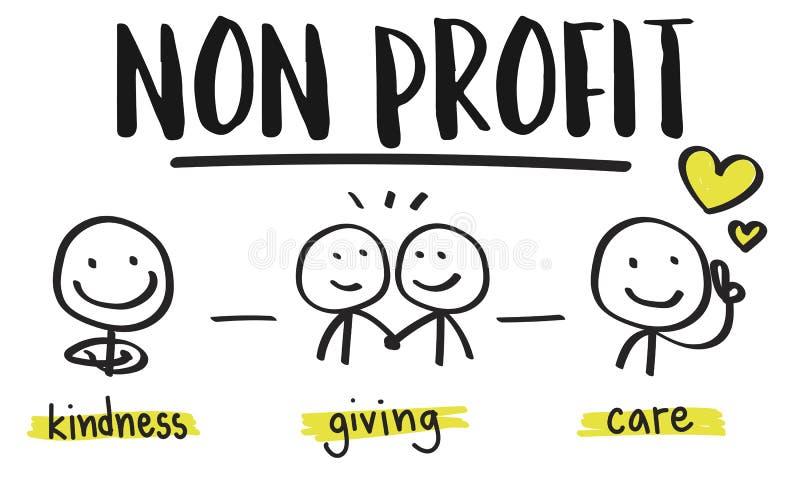 Μη κερδοσκοπική εθελοντική έννοια ερανικού δωρεών φιλανθρωπίας απεικόνιση αποθεμάτων