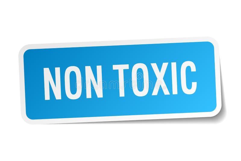 μη τοξική αυτοκόλλητη ετικέττα ελεύθερη απεικόνιση δικαιώματος