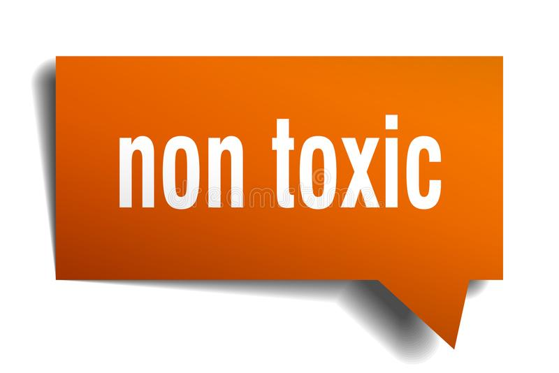Μη τοξική πορτοκαλιά τρισδιάστατη λεκτική φυσαλίδα ελεύθερη απεικόνιση δικαιώματος